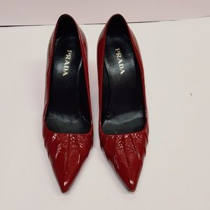 PRADA patent leather heels